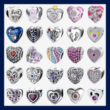 Strollgirl Love Collection 925 Sterling Silver Heart Shape Charms Beads Fit Pandora Charms Silver 925 Original Bracelet Jewelry new collection good gifts noble blue silver charms series 925 real silver charms bracelet for girlfriend