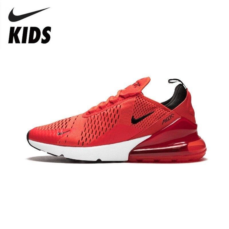 Nike air max 270 original crianças correndo sapatos almofada de ar vermelho esportes tênis ao ar livre #943345-005