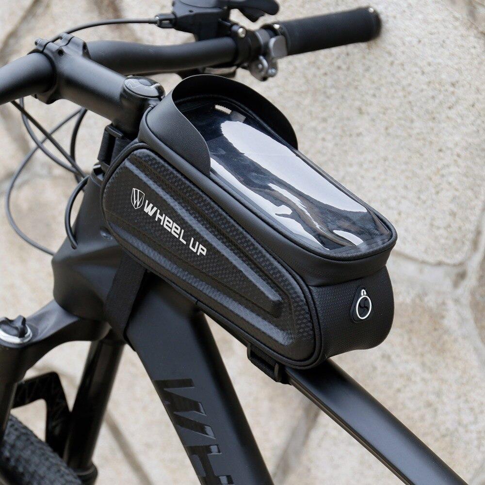 Wheel Up EVA Bike Phone Bag Bicycle Frame Handlebar Front Tube bag Reflective