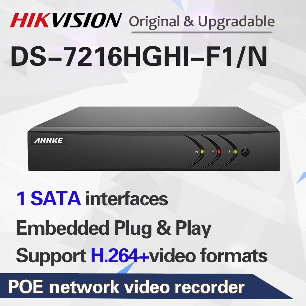 ANNKE 16CH 1080N 5in1 CVBS TVI CVI AHD, работает от сети IP HD TVI H.264 + DVR 2 ТБ для видеонаблюдения Камера Системы = HIK DS-7216HGHI-F1/N