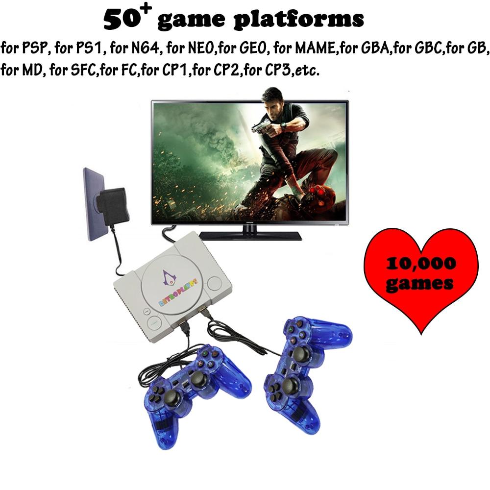 PSP HDMI 50 פלטפורמות וידאו קונסולת משחקים מובנית 10,000 משחקי קלאסיקה מיני רטרו Wired בקר ג