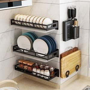 Kitchen Organizer Storage Shelf Stainless Steel Rack Bowl Chopsticks Knife Storage Dish Drying Rack Corner Shelf for Kitchen