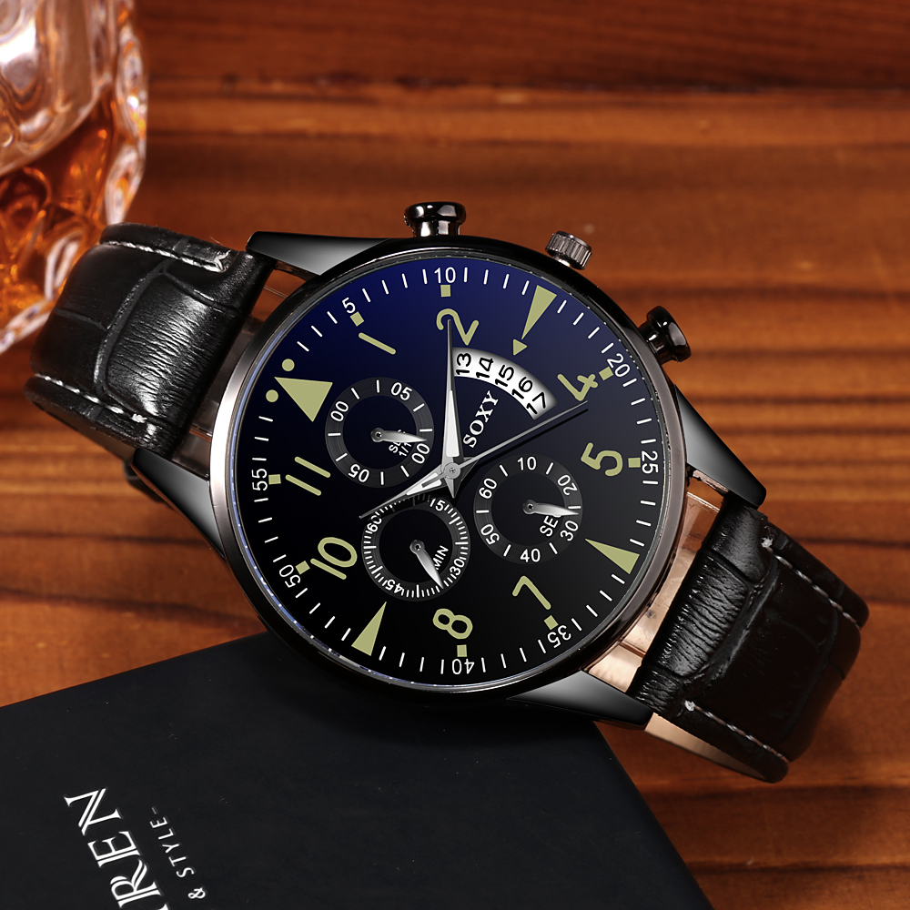 H86562e74f0a04945be270e537c3cb784T Men's Watch 2019 Top Brand Luxury Luminous Date Clock Sports Watches Men Quartz Casual Wrist Watch Men Clock Relogio Masculino