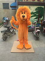 Cosplay Orange Animal Lion Mascot Costume Adult Lion King Wild Carnival Party Fancy Dress Advertising Halloween Parade Outfits