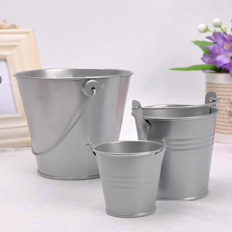 1 Pcs Piccolo Secchio di Ferro Mini Secchio Bagno Cucina di Casa Waterer Giardino Esterno Fiore di Irrigazione Contenitore Gadget