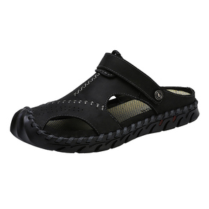 Image 3 - חדש מקרית גברים רך סנדלי נוח גברים קיץ עור גברים של נעלי בית גברים רומי הקיץ חיצוני חוף סנדלי גודל גדול 38 48