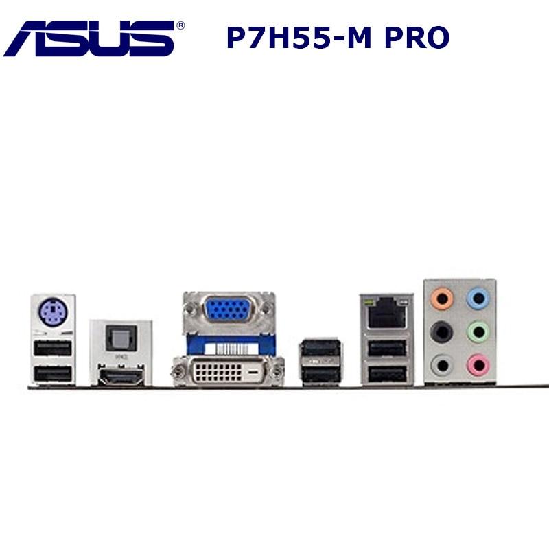 Socket LGA 1156 DDR3 оригинальная материнская плата ASUS P7H55D-M PRO Core i7 i5 i3 cpu Intel H55 16GB USB2.0 настольная материнская плата uATX 1156