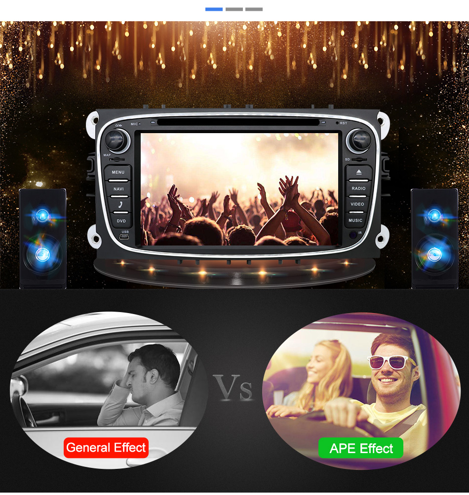 Discount Eunavi 2 din Android 9.0 Car DVD Radio Multimedia GPS for FORD Focus Mondeo S-MAX C-MAX Galaxy 4G 64G IPS DSP TDA7803A head unit 8