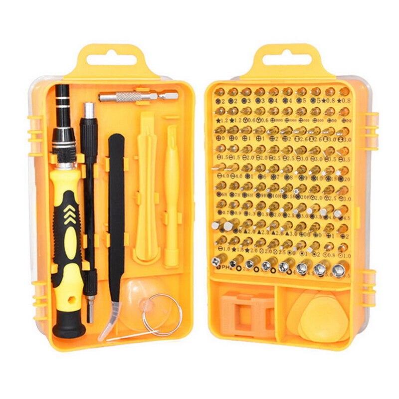 Kit de destornilladores de precisión juego de destornilladores 115 en 1 herramientas de reparación con funda de transporte para reloj de teléfono portátil