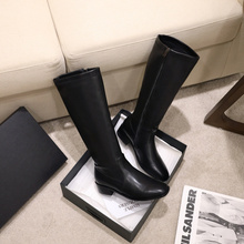Female Boots Women Shoes Stretch Winter Size-34-48 Knee-High Sexy New-Arrival