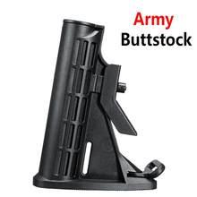 Preto exército tático buttstock para jinming gen8 m4a1 gel bola jateamento brinquedo substituição acessórios