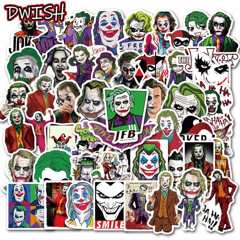 10/30/50pcs Waterproof Cool Movie The Joker Stickers Skateboard Suitcase Guitar Motorcycle Funny GraffitiF DIY Sticker Kids Toys