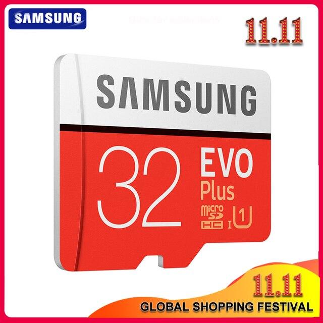 SAMSUNG tarjeta Microsd 256G, 128GB, 64GB, 32GB, 100 Mb/s, Class10, U3, U1, SDXC, tarjeta de memoria EVO +, tarjeta Flash TF