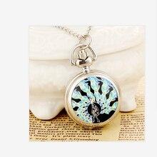 Новая мода мужчин и женщин карманные часы из нержавеющей стали кварца пара панк Павлин высокое качество Relogio женщина для