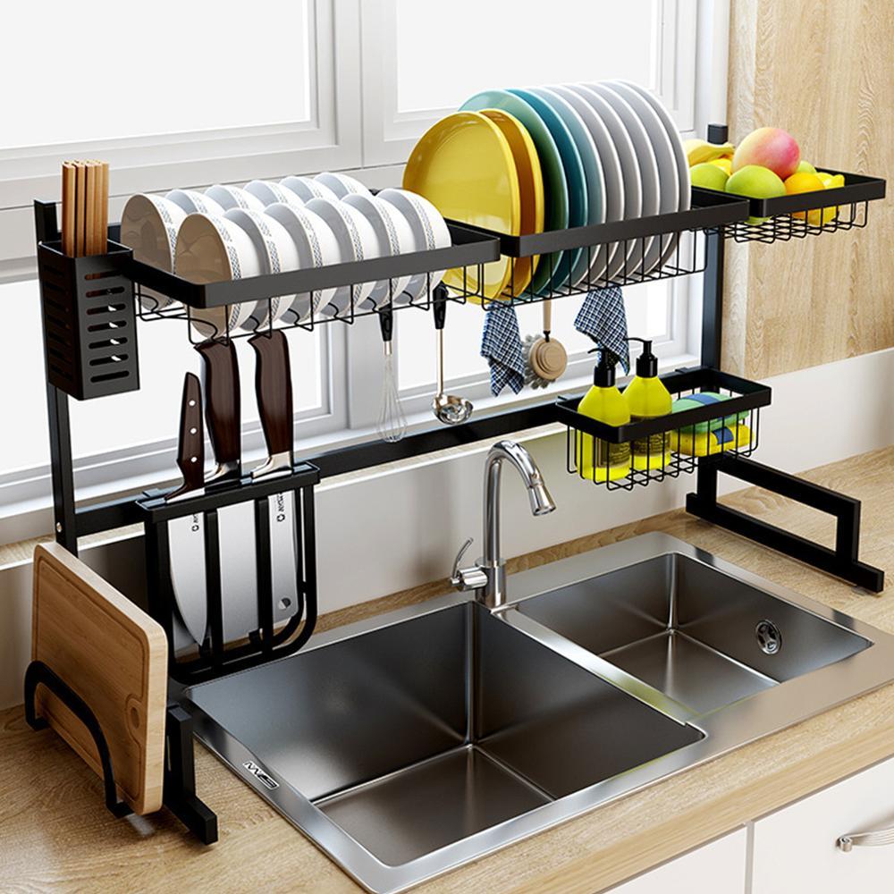 キッチンオーガナイザー食器棚上シンク食器カトラリー洗浄ホルダー食器すキッチン収納水切り乾燥ラック