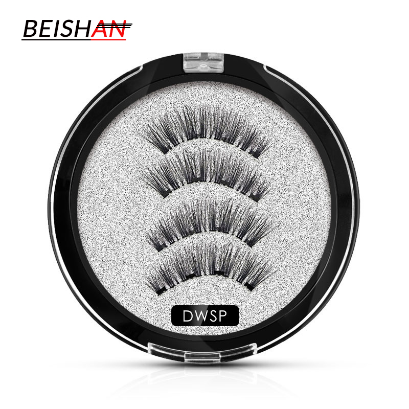 Magnetic Eyelashes 5-14mm  Natural Cross False Eye Lashes Eyelashes Hand Made Magnets Reusable 3D Magnetic Fake Eyelashes Makeup