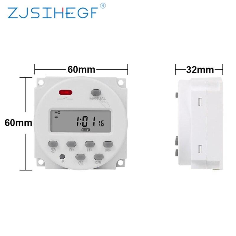 CN101A 220 в 230 в 240 в цифровой ЖК таймер питания 7 дней программируемый Встроенный перезаряжаемый аккумулятор|Выключатели|   | АлиЭкспресс