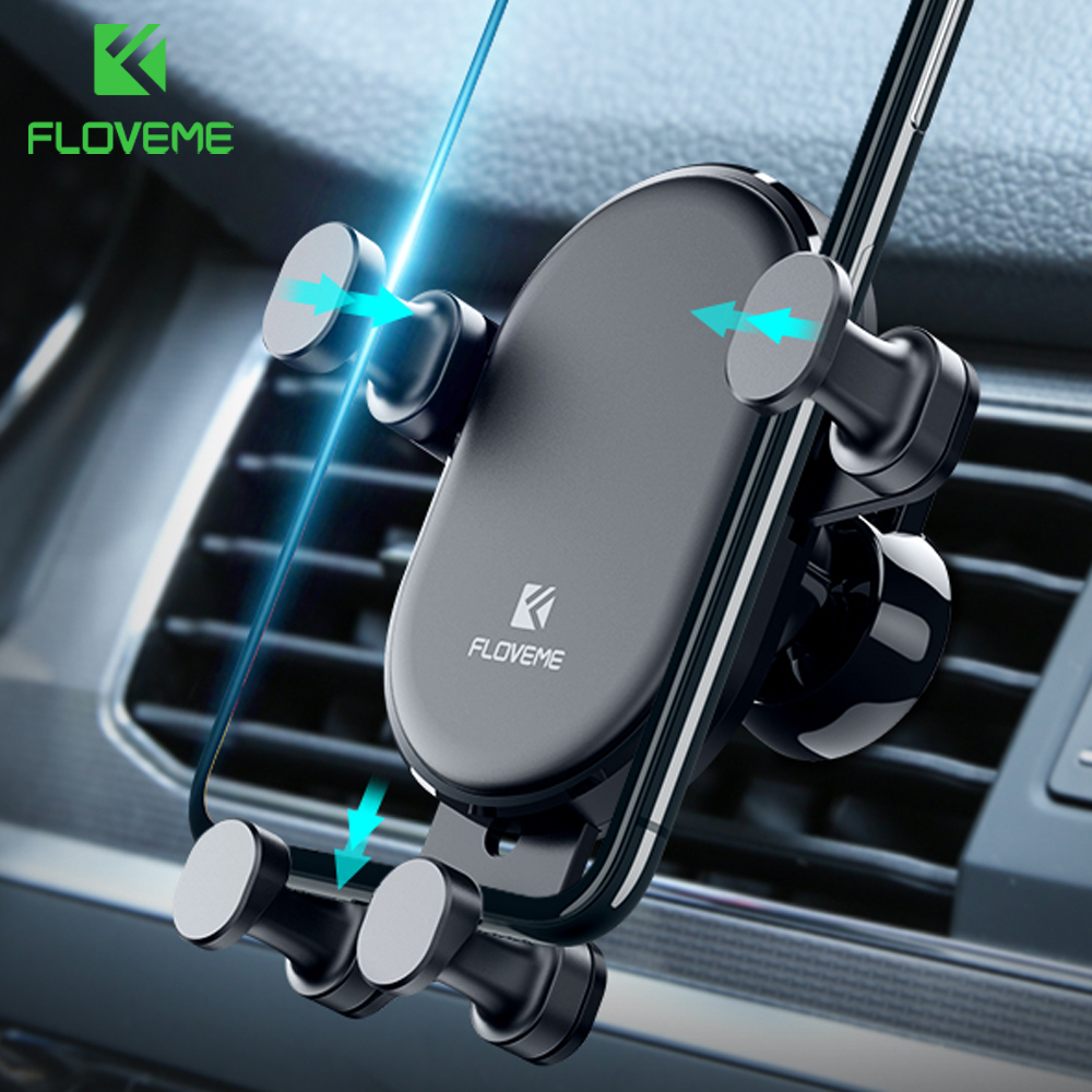 FLOVEME Gravity Car Holder For Phone In Car Air Vent Clip Mount No Magnetic Mobile Phone Holder Stand For IPhone Xiaomi Support