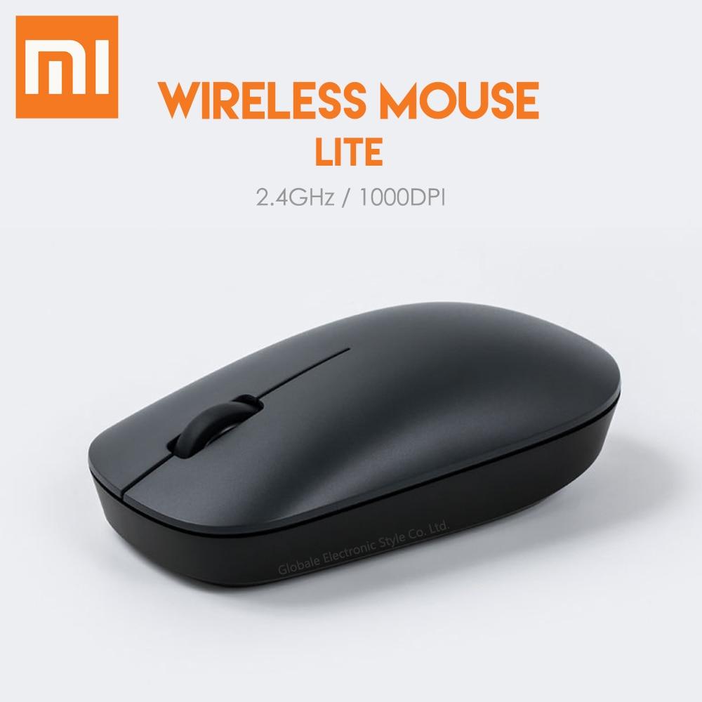 Original Xiaomi Wireless Mouse Lite 2.4GHz 1000DPI Optical Light Weight Ergonomical Design For Laptop Office