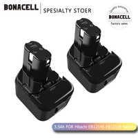 Bonacell 12V 3.5Ah Battery for Hitachi EB1214S EB1212S EB1220HS 324360 322434 Eb1220bl DS12DVF3 DN12DY DH15DV EB1220HL L50