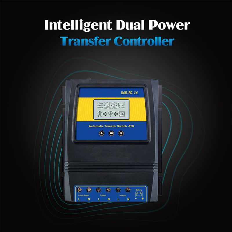 Automatische Ats Dual Power Transfer Switch Solar Laadregelaar Voor Solar Wind System Dc 12V 24V 48V ac 110V 220V On/Off Grid