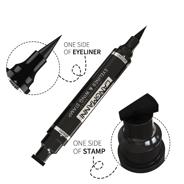 Liquid Eyeliner Pencil Double-headed Makeup Long Lasting Sexy Waterproof Quick Dry Eyeliner Pen Stamp Big Eye Cosmetics TSLM1 4