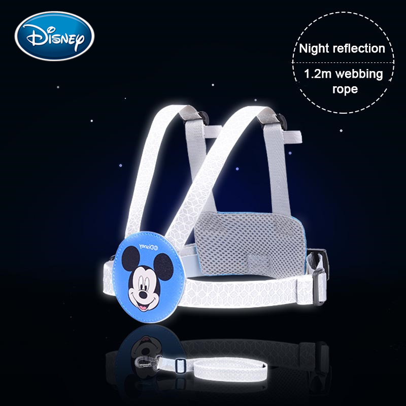 Disney Baby Anti Lost Wrist Link Toddler Leash Safety Harness Luminous Rope Cute Walking Hand Belt Band Anti-lost Wristband