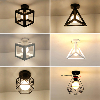 Vintage Ceiling Lamp Industrial ceiling light rectangle Lighting triangle LED lights American country Fixture