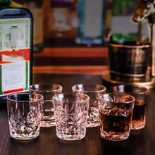 6 шт резными узорами выстрел Стекло Творческий виски вина для водки, пива вина Стекло бар Клубные вечерние коктейльное Стекло дома духов посуда для напитков