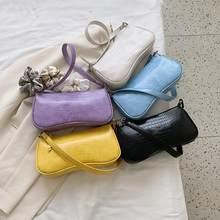 Frauen Vintage Split PU Leder Taschen Retro Krokodil Muster Schulter Tasche Casual Solide Damen Kleine Messenger Handtasche Weiblichen Geschenk