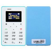 Telefone celular aiek m5, mini, de bolso, personalidade para estudantes, telefone ultra fino, discador bluetooth