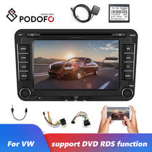 "Podofo 2Din GPS DVD de coche reproductor Multimedia 7 ""Autoradio MP3 MP5 Radios de coche Bluetooth USB SD FM Radio coche para jetta VW passat(China)"