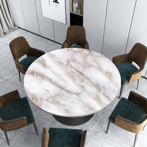 Round Tablecloth Customize Wedding-Decoration Marble Soft-Glass Nordic Waterproof White