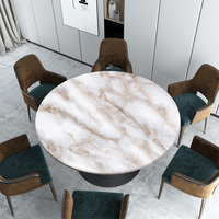 Nordic white marble Round tablecloth pvc soft glass waterproof oil proof table mat party wedding decoration customize tablecloth