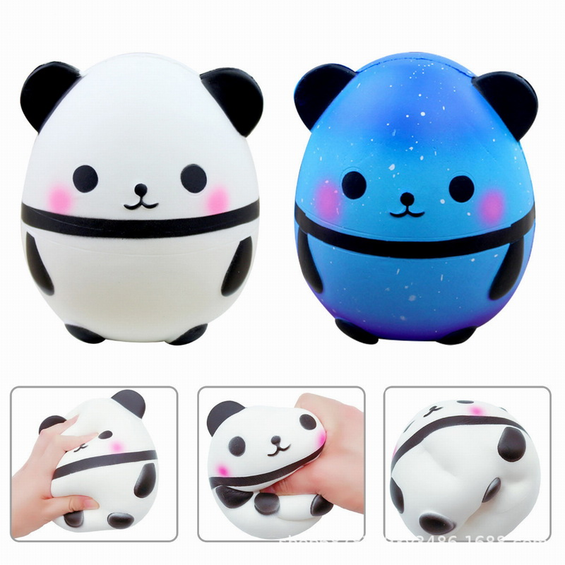 Cute Panda Egg Squishy Toys New Slow Rebound Toysimulation Food Soft Children'S Decompression Vent Cartoon Animals Toys