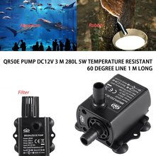 Decdeal Ultra-quiet Mini Brushless DC/USB Water Pump 5/12V 5-10W 250-400L/H Lift 300cm Submersible Fountain Aquarium Circulating