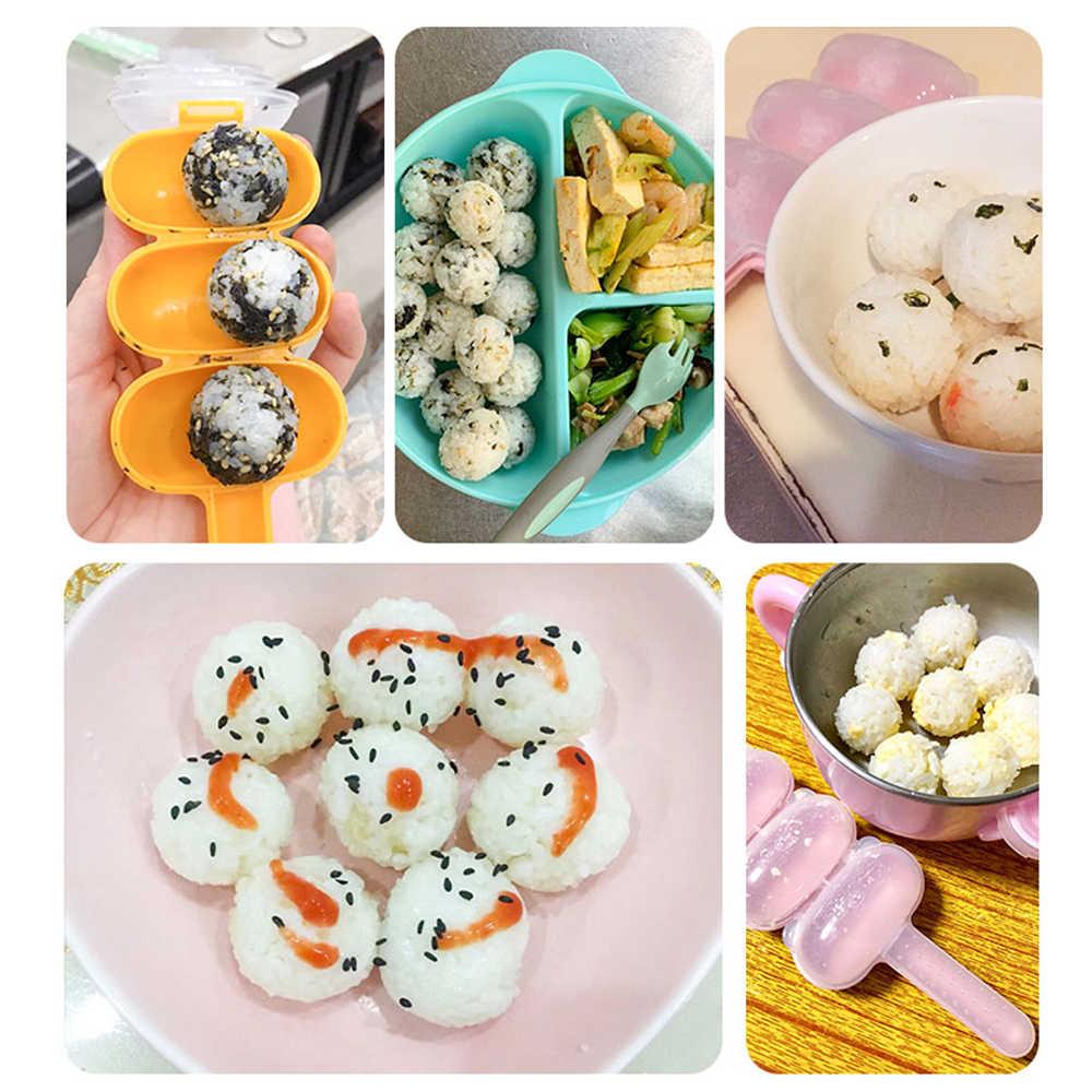 DIY Sushi Mould Kitchen Meat Ball Mould Reusable Rice Ball Mould 2Pcs Arancini Maker