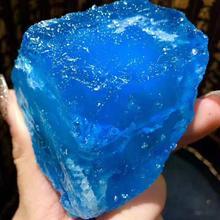 Pierre brute saphir de mer naturelle 100%, 200 210g, 1 pièce, cristal aigue marine de guérison, reiki