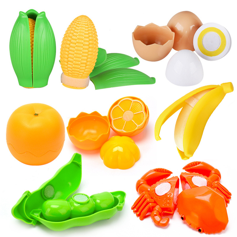 Hot Pretend Play Plastic Food Toy Cutting Fruit Vegetable Food Pretend Play Children Safety Model Education Kitchen Toys Sets