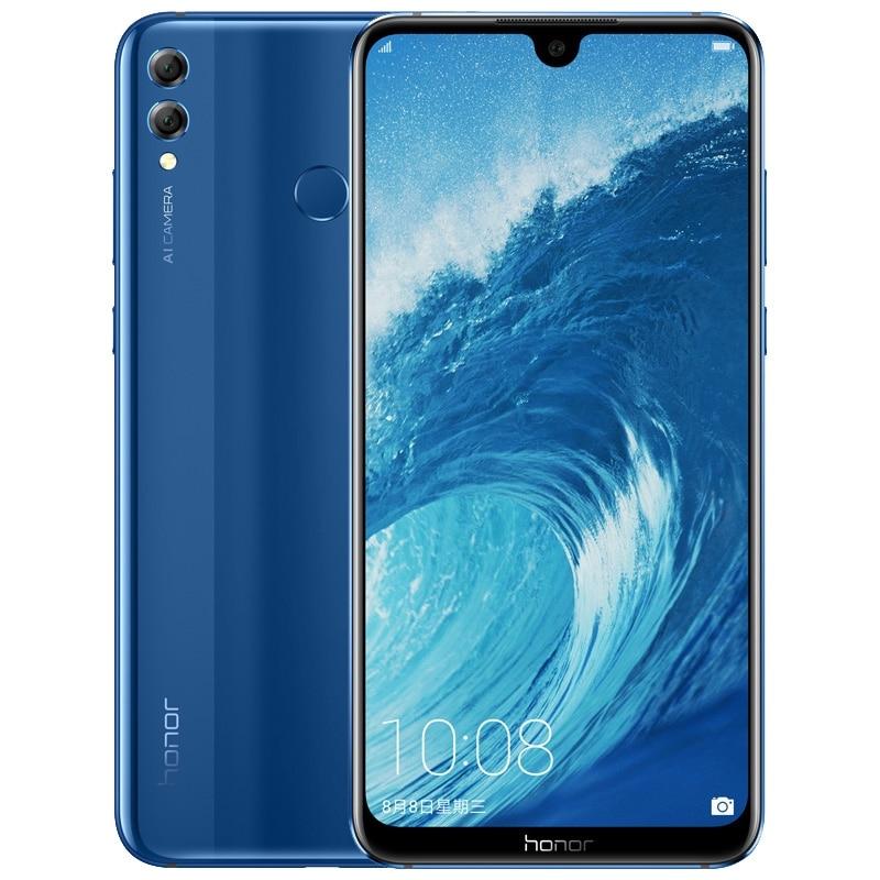 Honor 8X Max 7,12 дюймов мобильный телефон Android 8,1 16MP Octa Core Экран функцией отпечатков пальцев (Fingerprint ID), 4900 мА/ч, Батарея смартфон