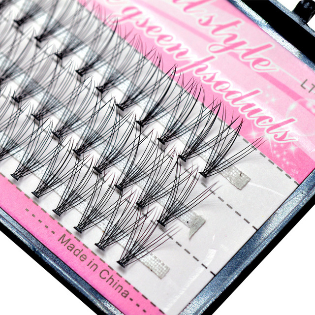 1 Case False Eyelashes Natural Fake False Long Curl Synthetic Hair Eye Lashes Professional Beauty Makeup Grafted eyelashes 3