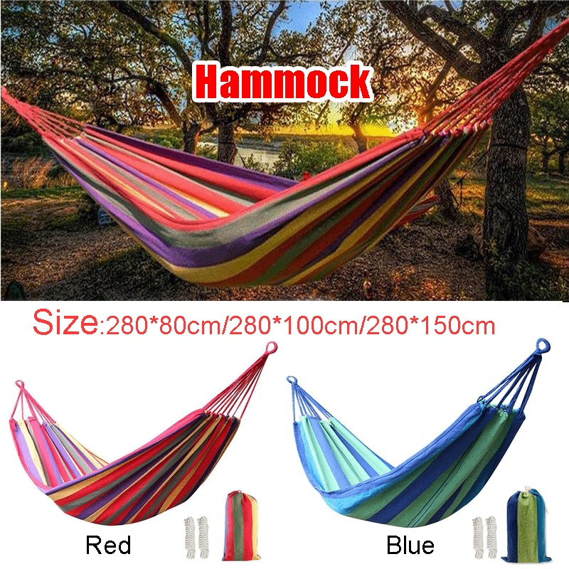 Garden Canvas Hammock Camping Sleeping Hamack Swing Hanging Chair Hamack