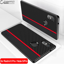 for Xiaomi Redmi Note 5 Case Redmi Note 5 Global Version Carbon Fiber Protection Back Cover for Redmi 6A 7A Note 7 Pro 7S Case(China)