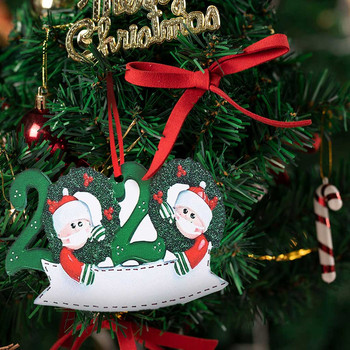 top selling product in 2020 Personalized Survived Family Of Ornament 2020 Christmas Holiday Decorations Wholesale Dropshipping image