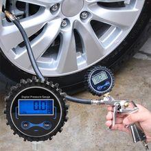 0-200PSI Digital Tire Pressure Gauge Car Air PSI Meter Tyre Pressure Tester 1/8 NPT A5YD elecall micro differential pressure gauge te2000 0 1kpa high precision 1 8 npt air pressure meter barometer best sale