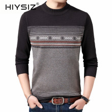 HIYSIZ Brand new pullover Streetwear casual cotton sweater men warm printed men sweaters autumn winter clothes Pull homme H3030
