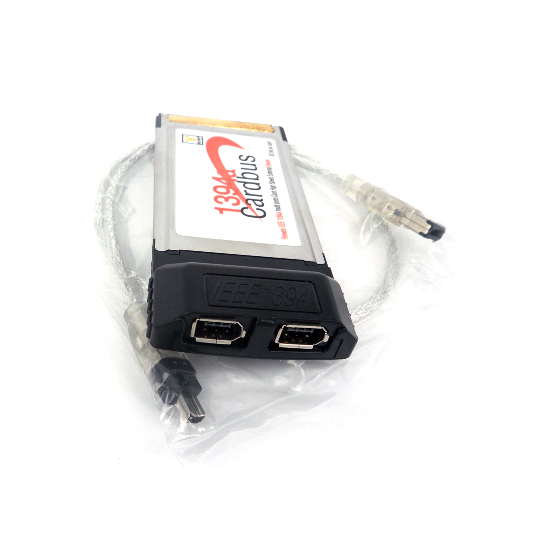 2 Port 6Pin 1394A IEEE For FireWire 1394 CardBus Card 54mm For PCMCIA Digital Camera DV Camcorders Hard Disks Drives Laptop PC