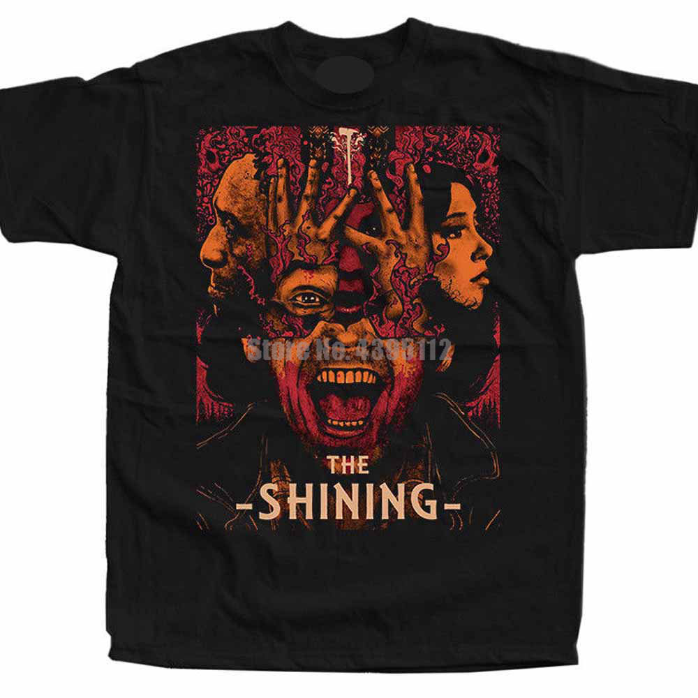 The Shining S <font><b>Kubrick</b></font> Movie Poster Men'S T-Shirts Mens Streetwear Tshirts Gym King T Shirt Black Of White T-Shirt Xxxxl image