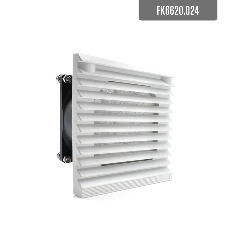 106.5*106.5mm DC24V 12V Air Fan Filter Cabinet Filter Air Vents With 80mm 8cm 8025 Cooling Fan Dc Fan Ball Bearing FK6620.024