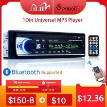 Podofo autorradio estéreo con Bluetooth para coche, receptor de entrada Aux, FM, SD, USB, JSD 520, 12V, en tablero, 1 din, reproductor Multimedia MP3, USB